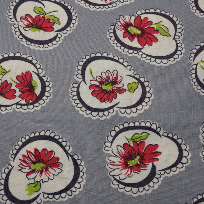 Vintage Floral Japanese Fabric