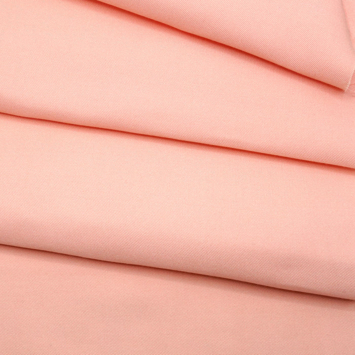 Silk Cotton Twill Fabric Salmon