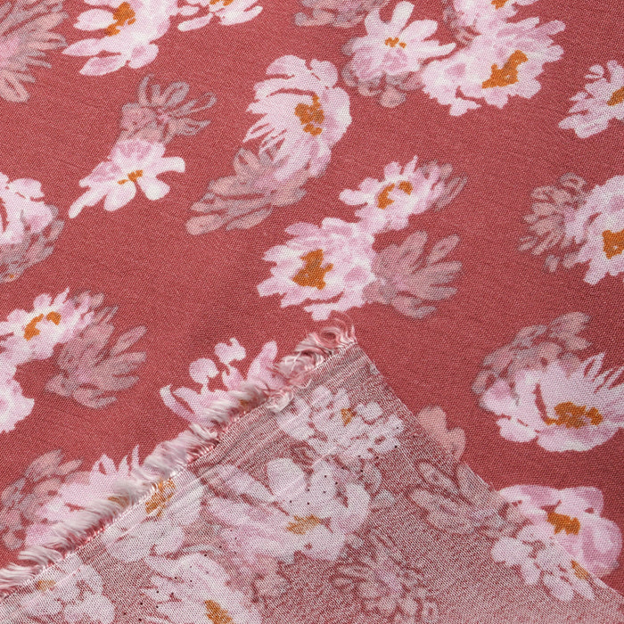 Sample Floral Rayon Challis Fabric