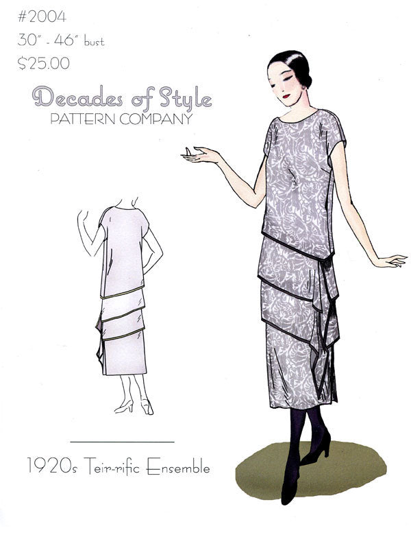 Tier-Rific Ensemble 1920  Decades of Style Vintage Style Sewing Pattern