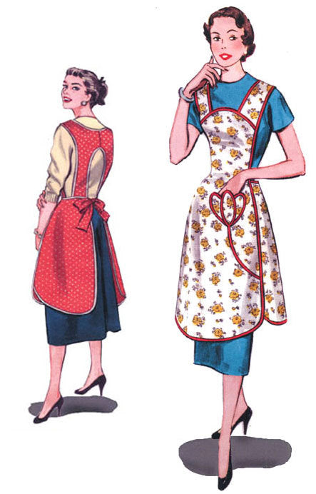 Protect and Serve Apron  1950's  Decades of Style Vintage Style Sewing Pattern