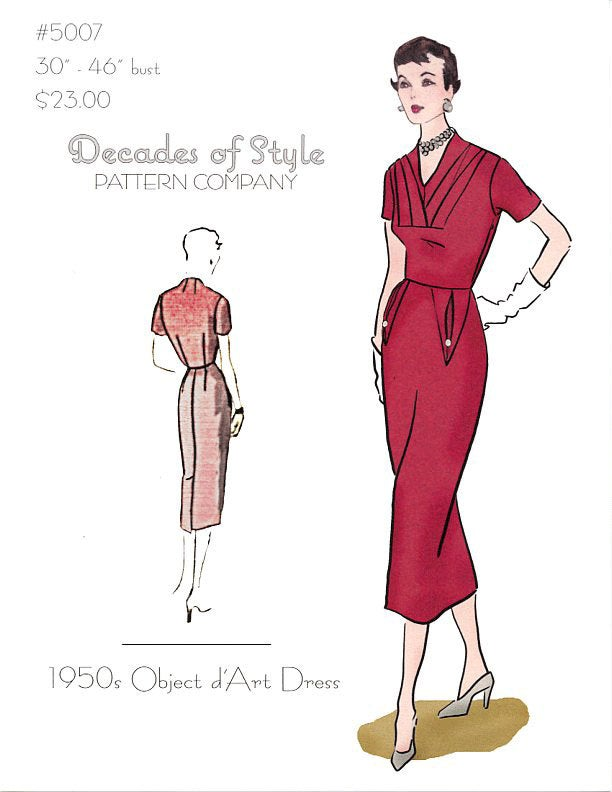 Object d'Art Dress 1950  Decades of Style Vintage Style Sewing Pattern