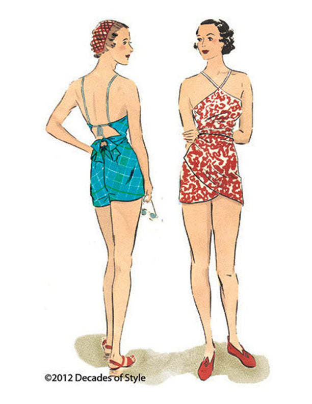 Beach Romper 1930's Decades of Style Vintage Style Sewing Pattern