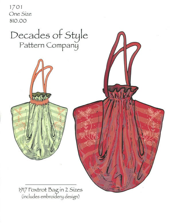 Foxtrot Bag Pattern 1917 Decades of Style Vintage Style Sewing Pattern