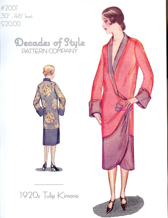 Tulip Kimono 1920  Decades of Style Vintage Style Sewing Pattern