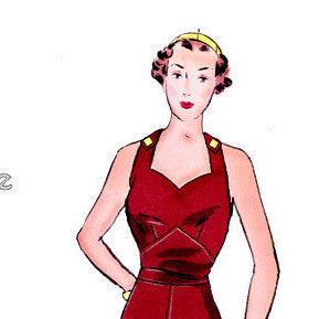 Sweetheart Overalls 1930's  Decades of Style Vintage Style Sewing Pattern