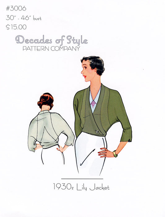 Lily Jacket 1930 Sewing Pattern