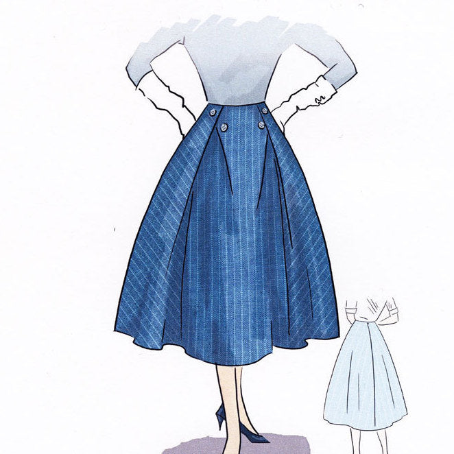 PB & J Skirt 1950  Decades of Style Vintage Style Sewing Pattern