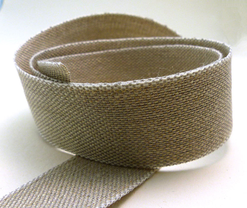 Natural Linen  Ribbon Made in France 1 1/2Inches wide