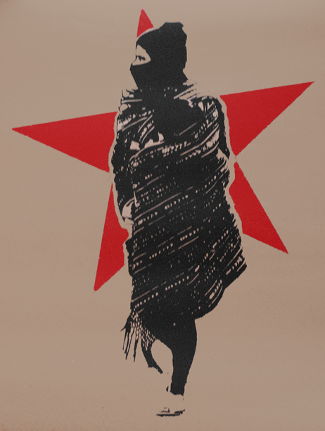 Mujer zapatista con rebozo – Zapatista Woman with Shawl