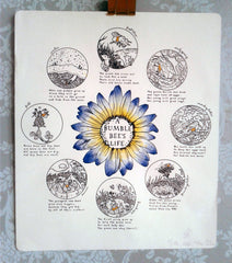 A Bumble Bee's Life Letterpress Poster