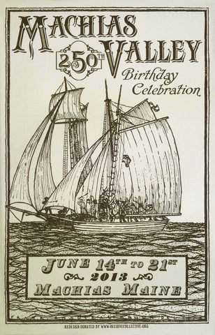 Machias 250th Birthday Celebration - Letterpress Poster