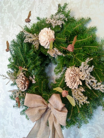 Beehive Balsam Wreaths  ~ Handmade in Maine