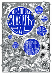 2015 Blackfly Ball Letterpress Poster - Large