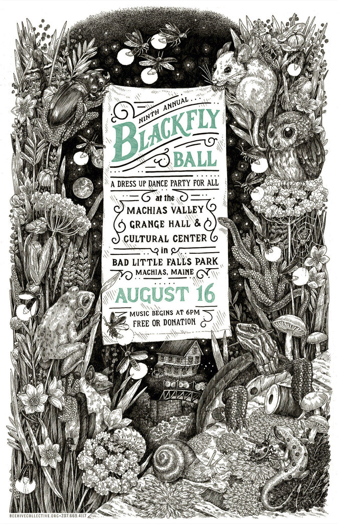 2014 Blackfly Ball Letterpress Poster - Large