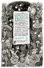 2014 Blackfly Ball Letterpress Poster - Small