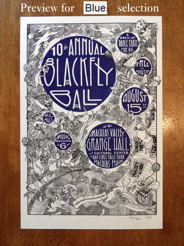 2015 Blackfly Ball Letterpress Poster - Small