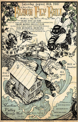 2007 Blackfly Ball Poster