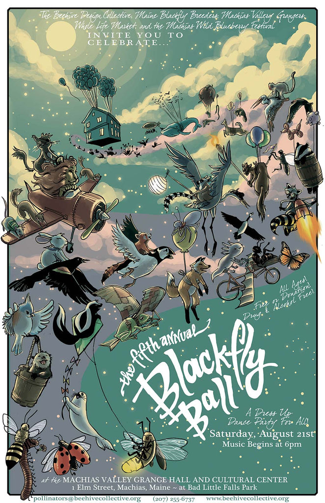 2010 Blackfly Ball Poster - Small