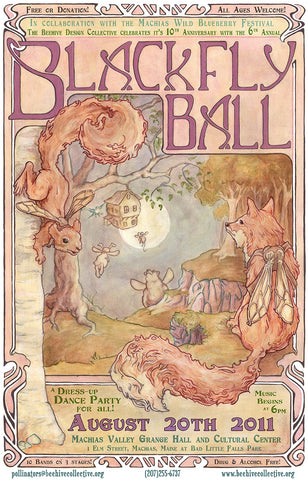 2011 Blackfly Ball Poster - Small