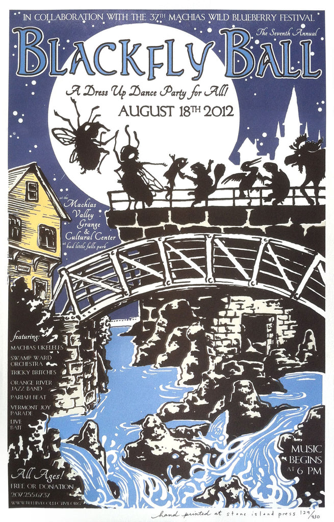 2012 Blackfly Ball Letterpress Poster - Small