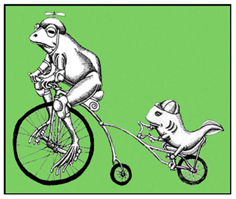 Frogs on Bike