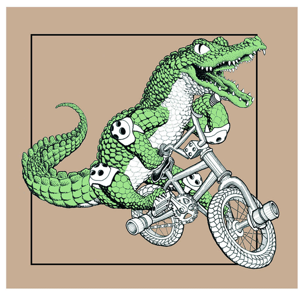 Alligator on Bike