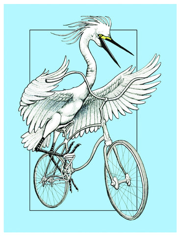 Egret on Bike