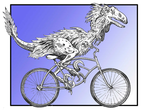 Dinosaur on Bike