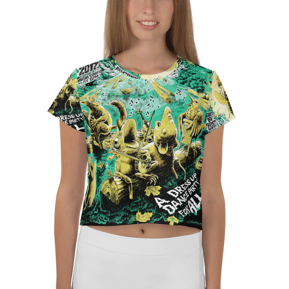 2017 Blackfly Ball All-Over Print Women's Style Crop Tee