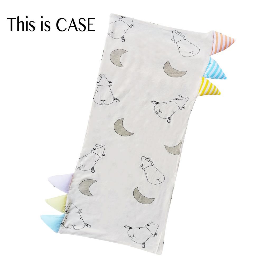 Bed-Time Buddy Case Big Moon & Sheepz Yellow with Color & Stripe tag - Jumbo