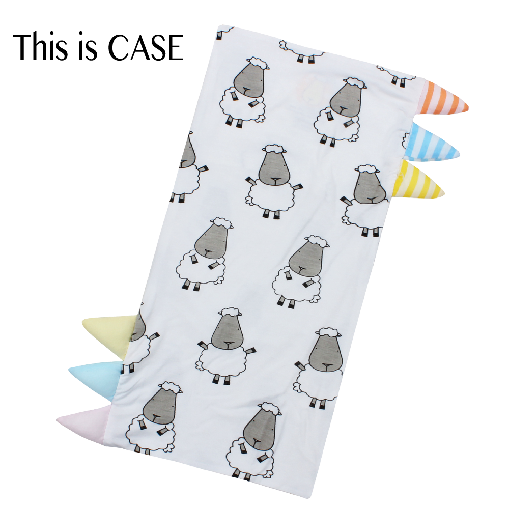 Bed-Time Buddy Case Big Sheepz White with Colour & Stripe tag - Jumbo