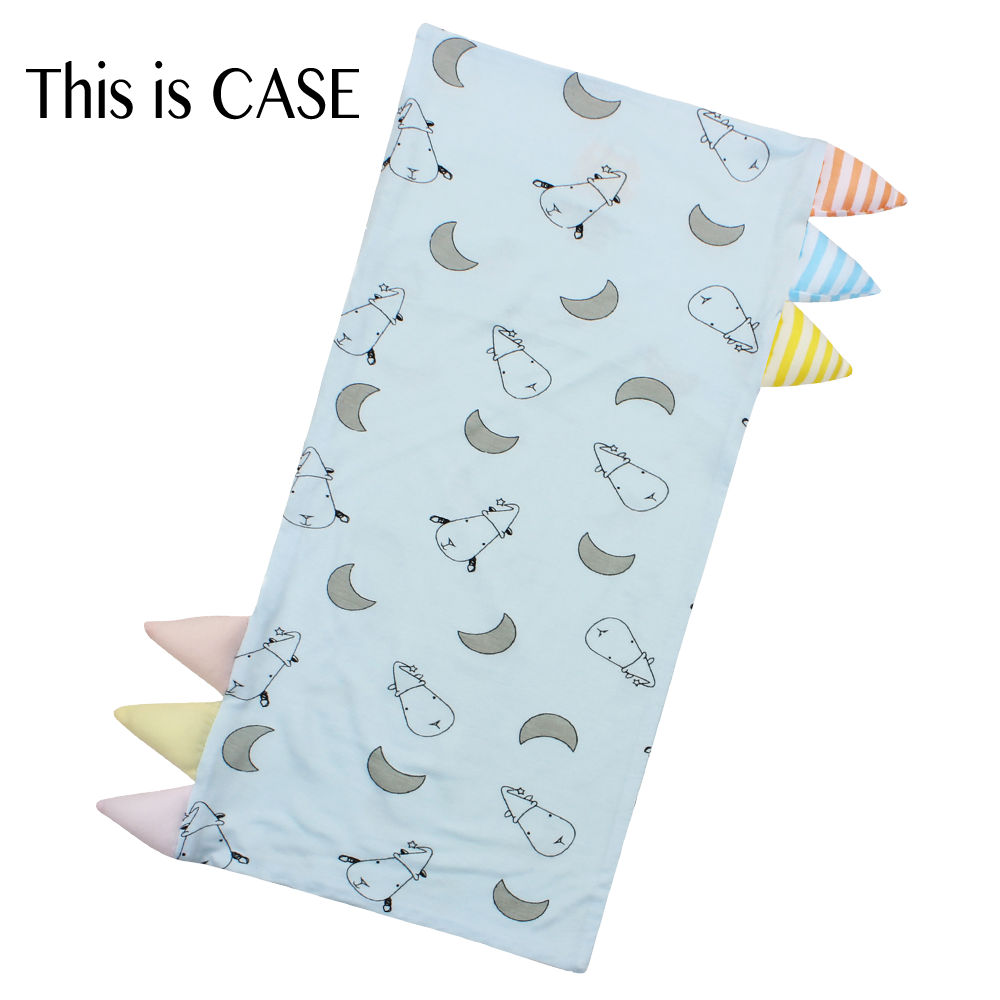 Bed-Time Buddy Case Small Moon & Sheepz Blue with Color & Stripe tag - Medium