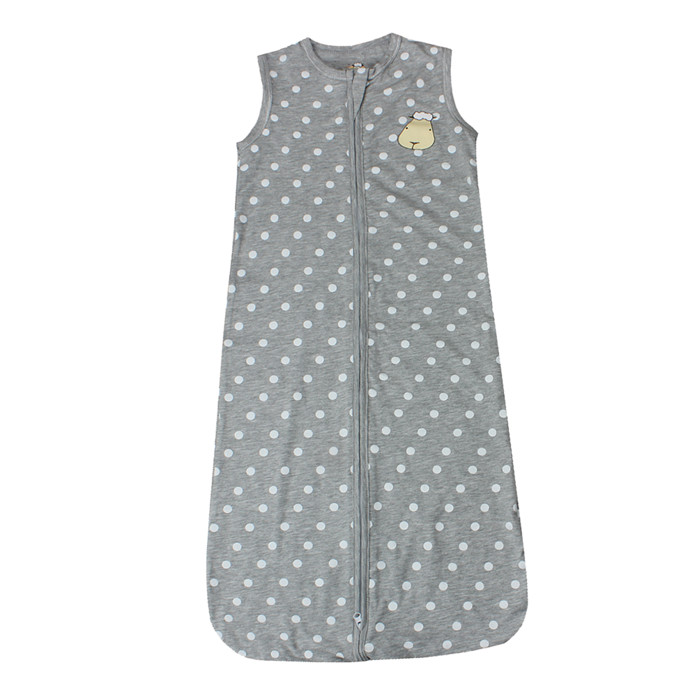 Wearable Blanket Zip Polka Dot Grey