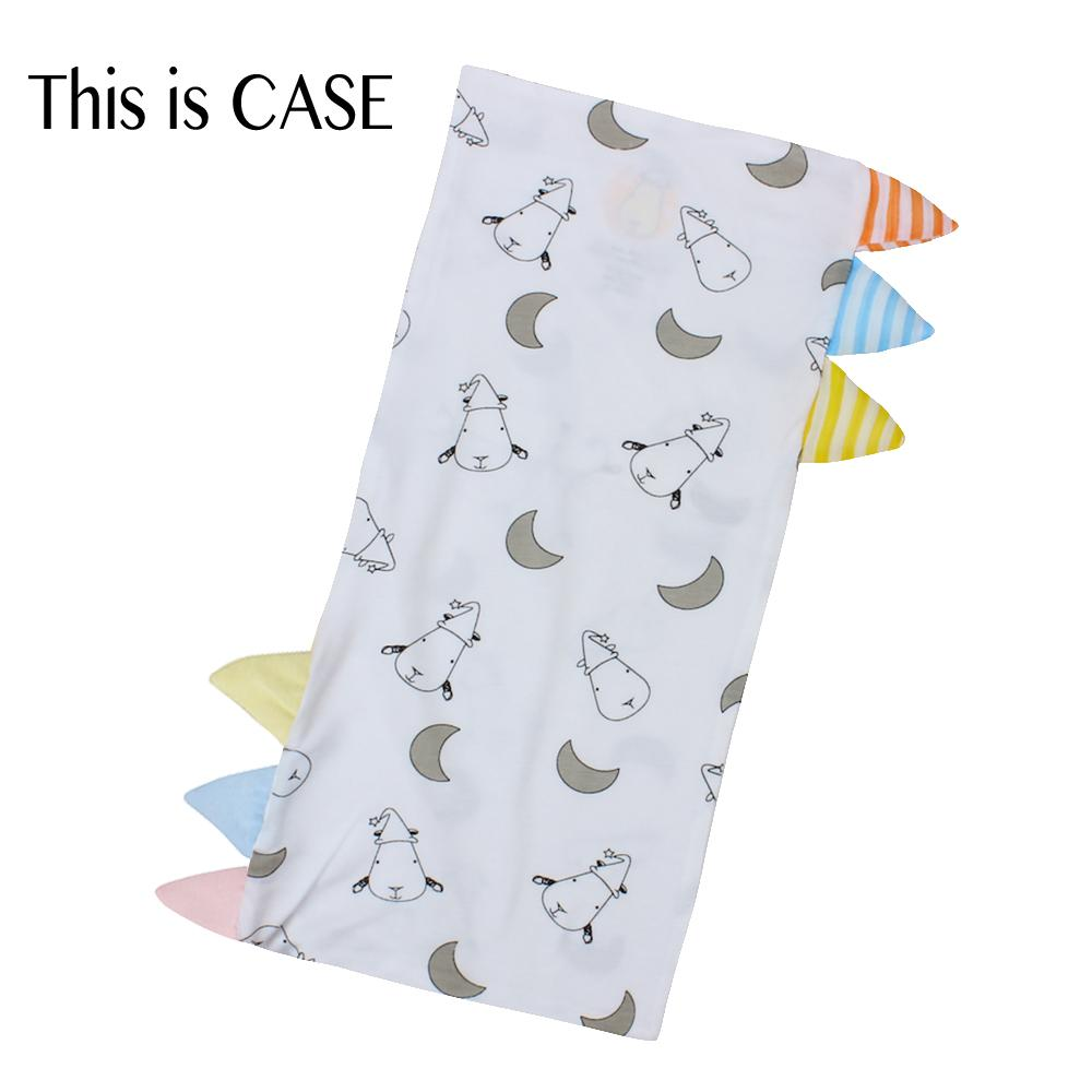 Bed-Time Buddy Case Small Moon & Sheepz White with Color & Stripe tag - Medium