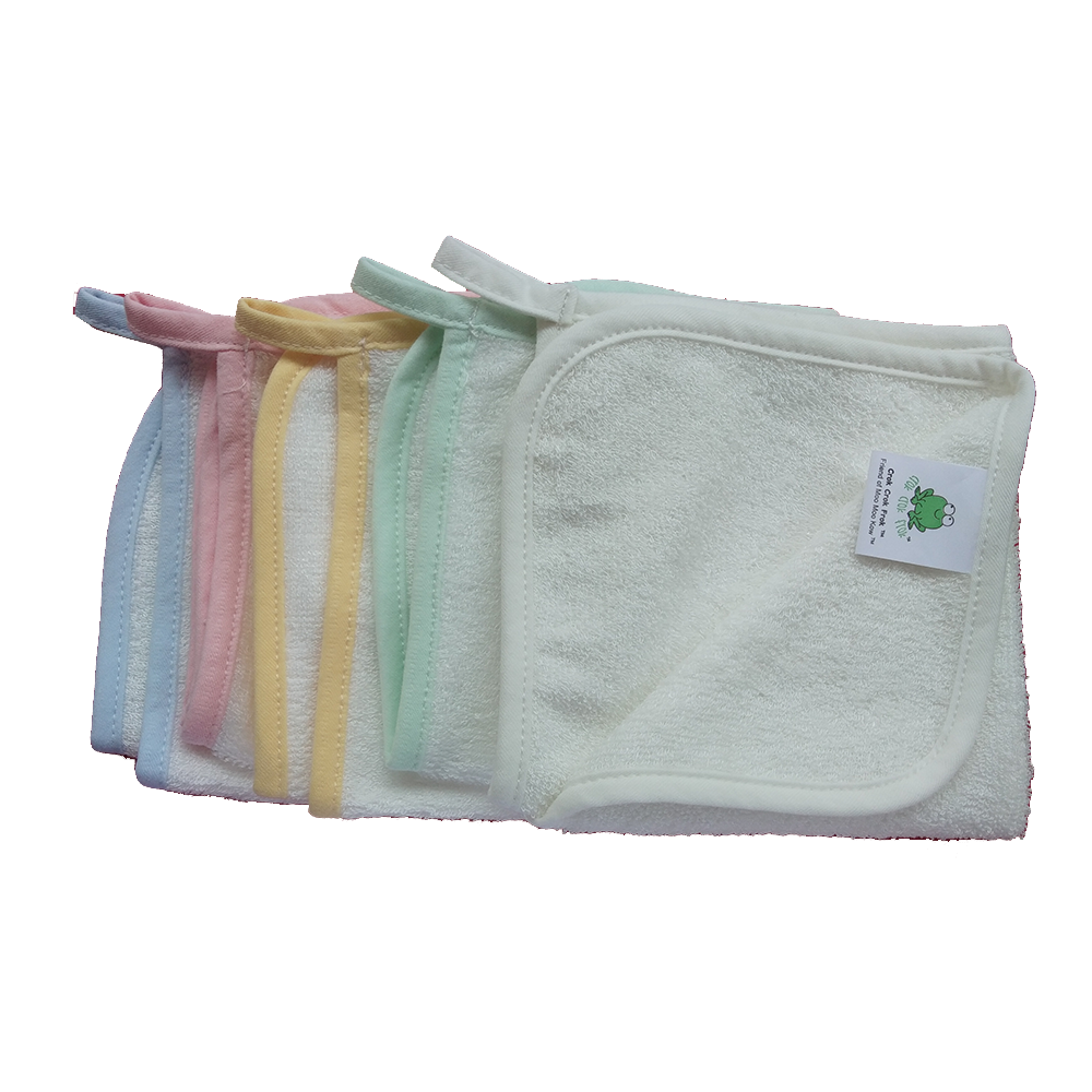 CrokCrokFrok Bamboo Wash Cloth - White