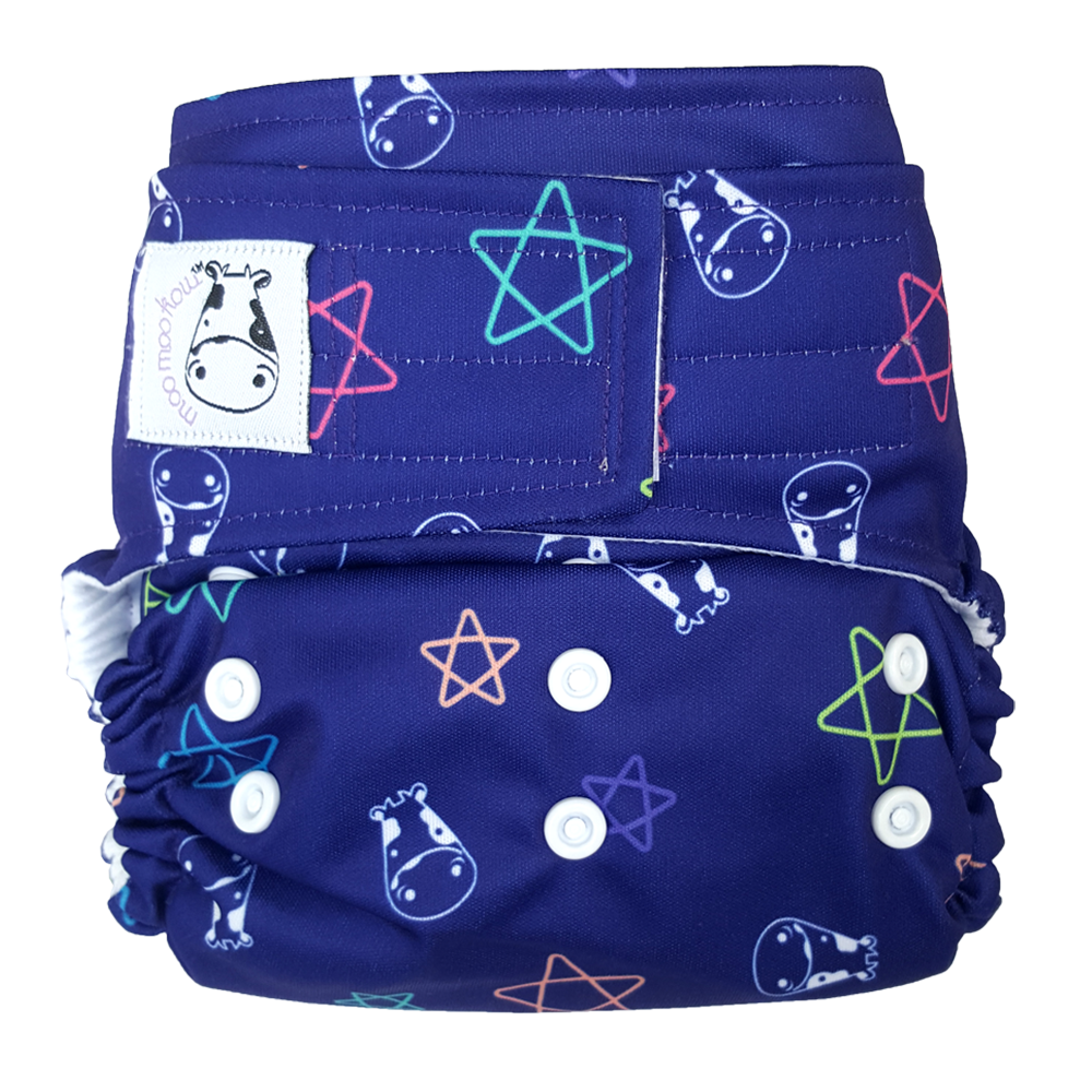 Cloth Diaper One Size Aplix - Color Star