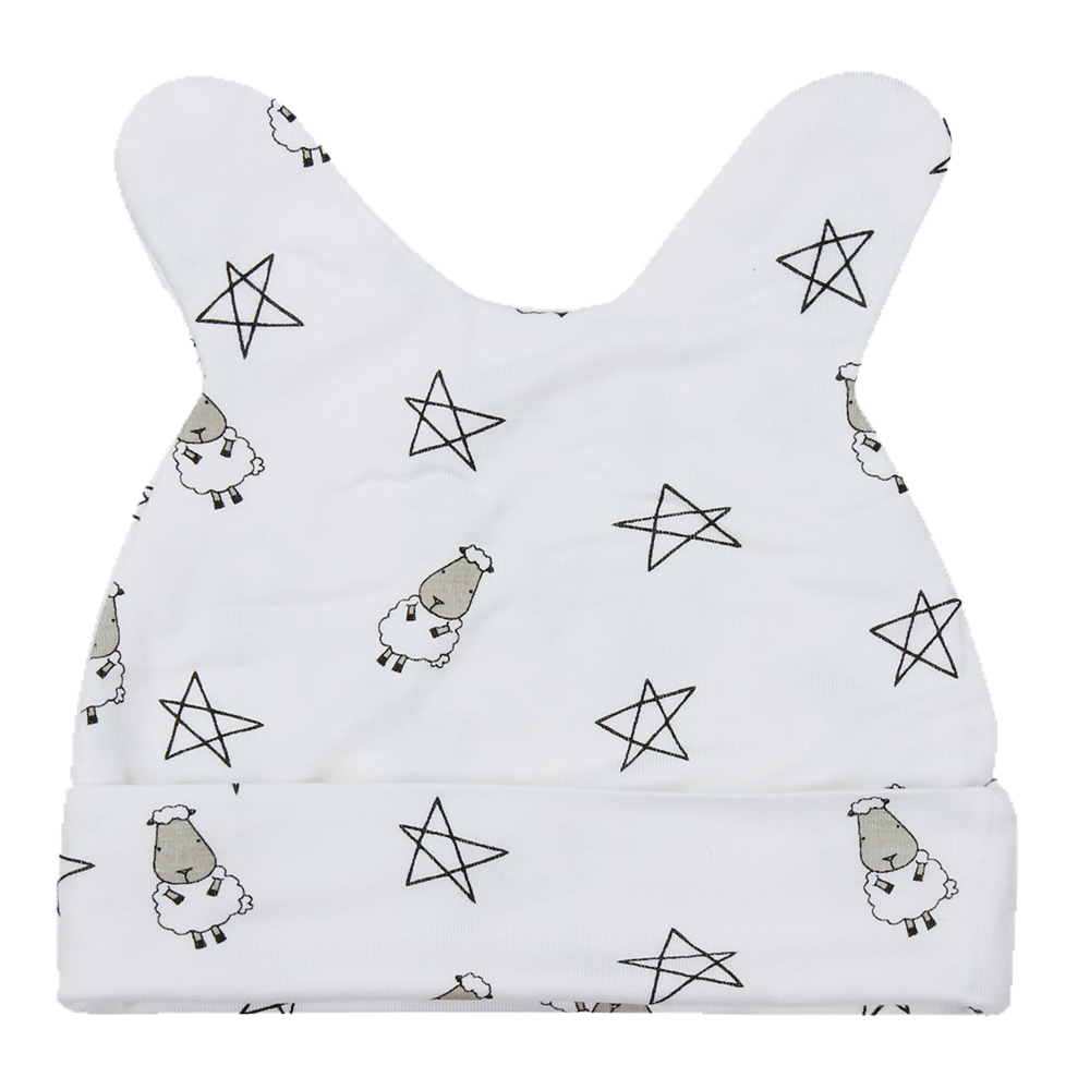 Cap Small Star & Sheepz White