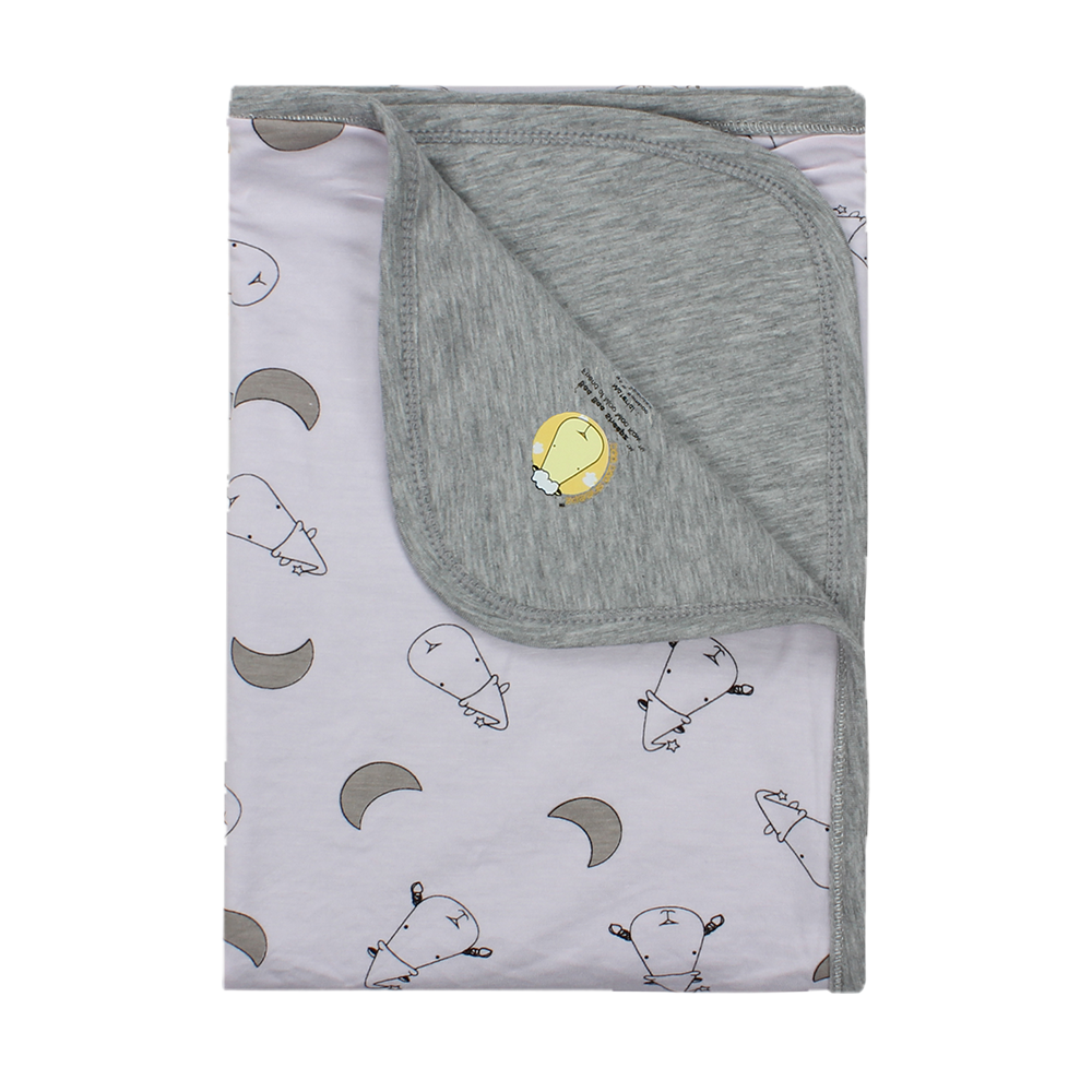 Double Layer Blanket Small Moon & Sheepz Pink