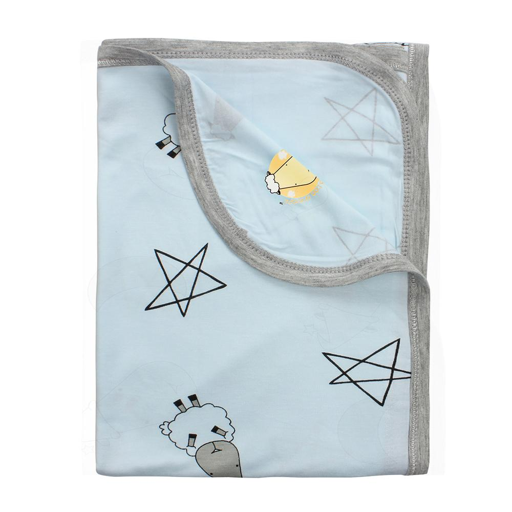 Single Layer Blanket Big Star & Sheepz Blue