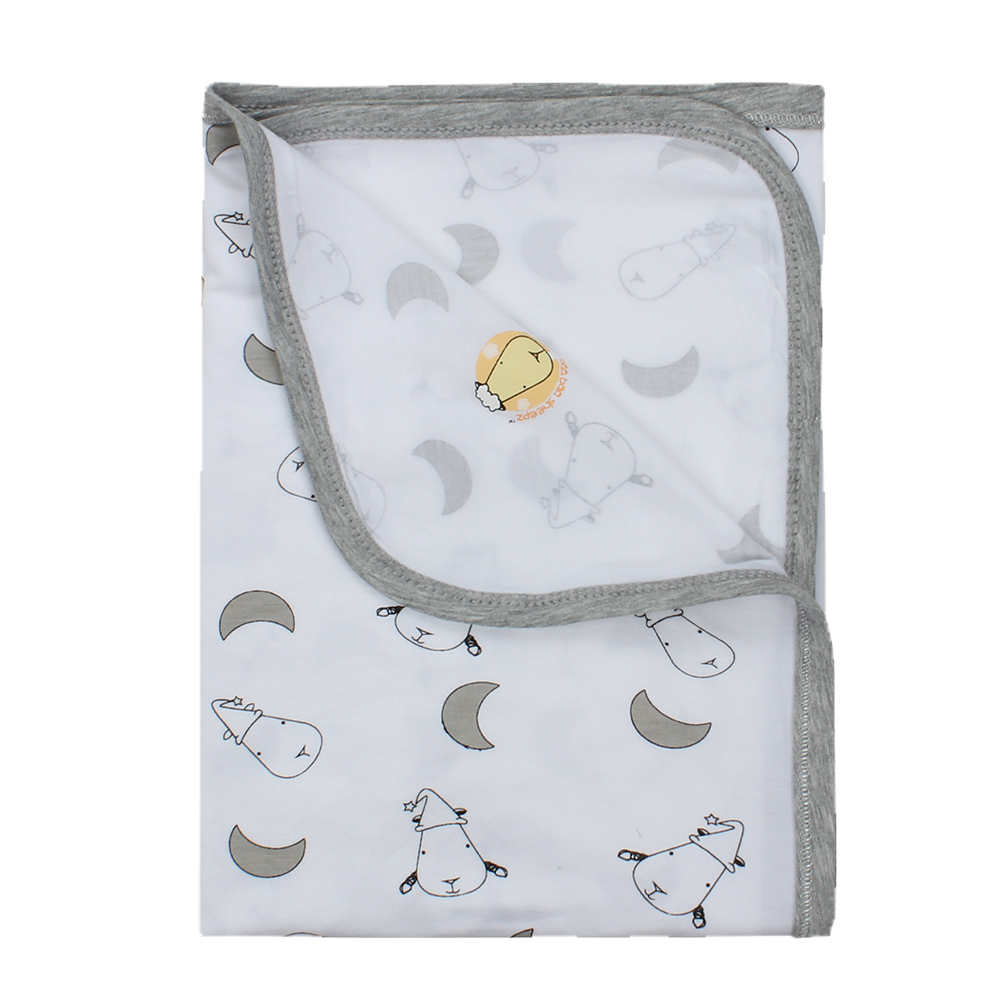 Single Layer Blanket Small Moon & Sheepz White