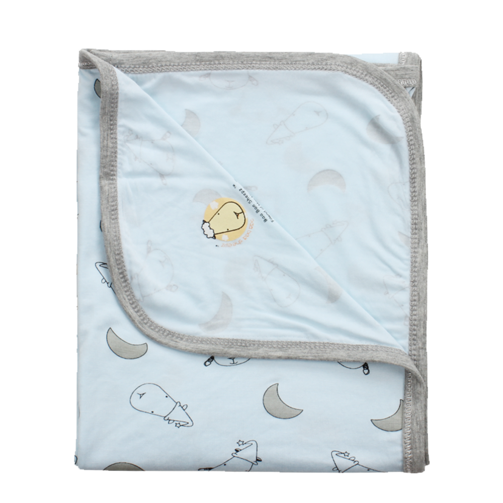 Single Layer Blanket Small Moon & Sheepz Blue