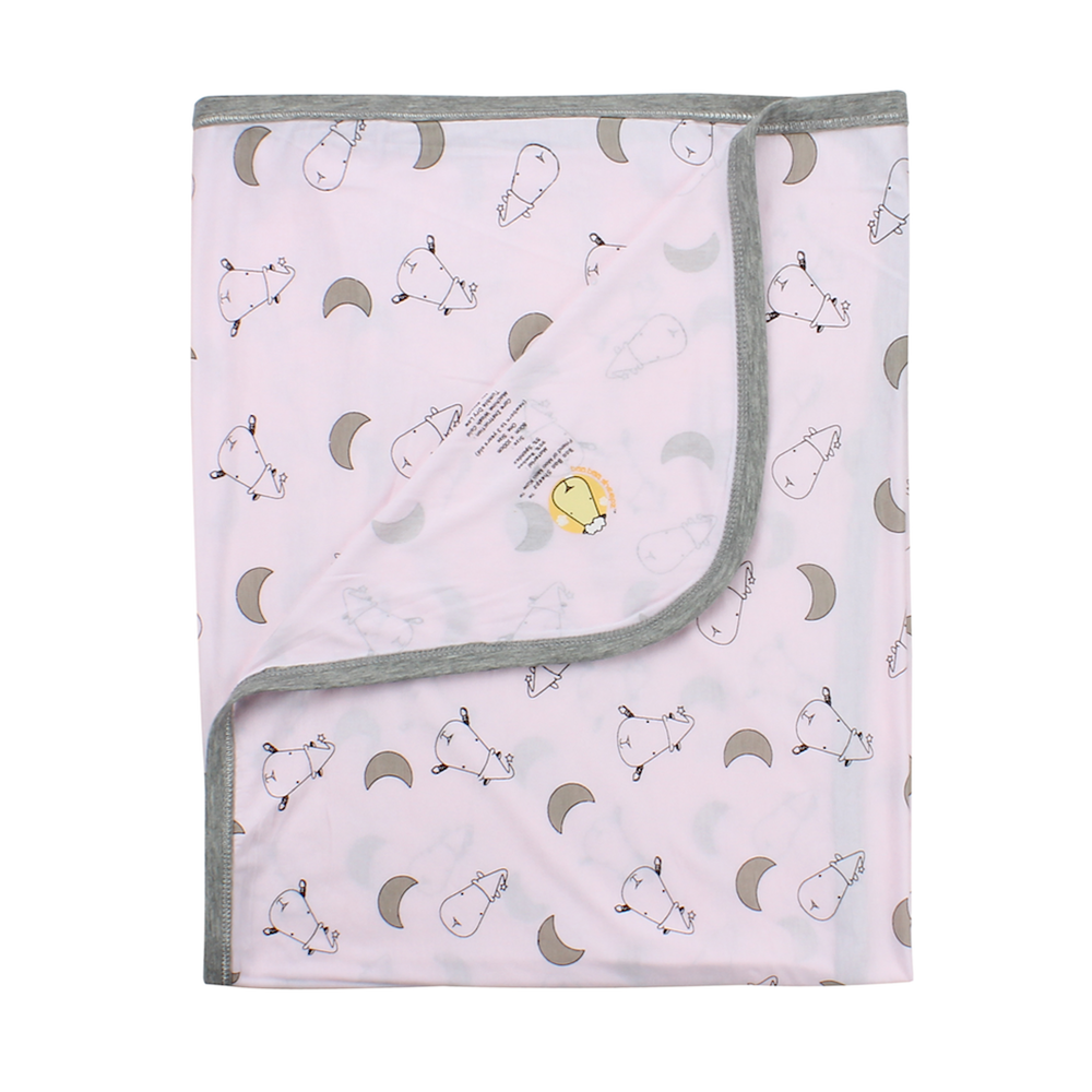 bamboo blanket baby pink