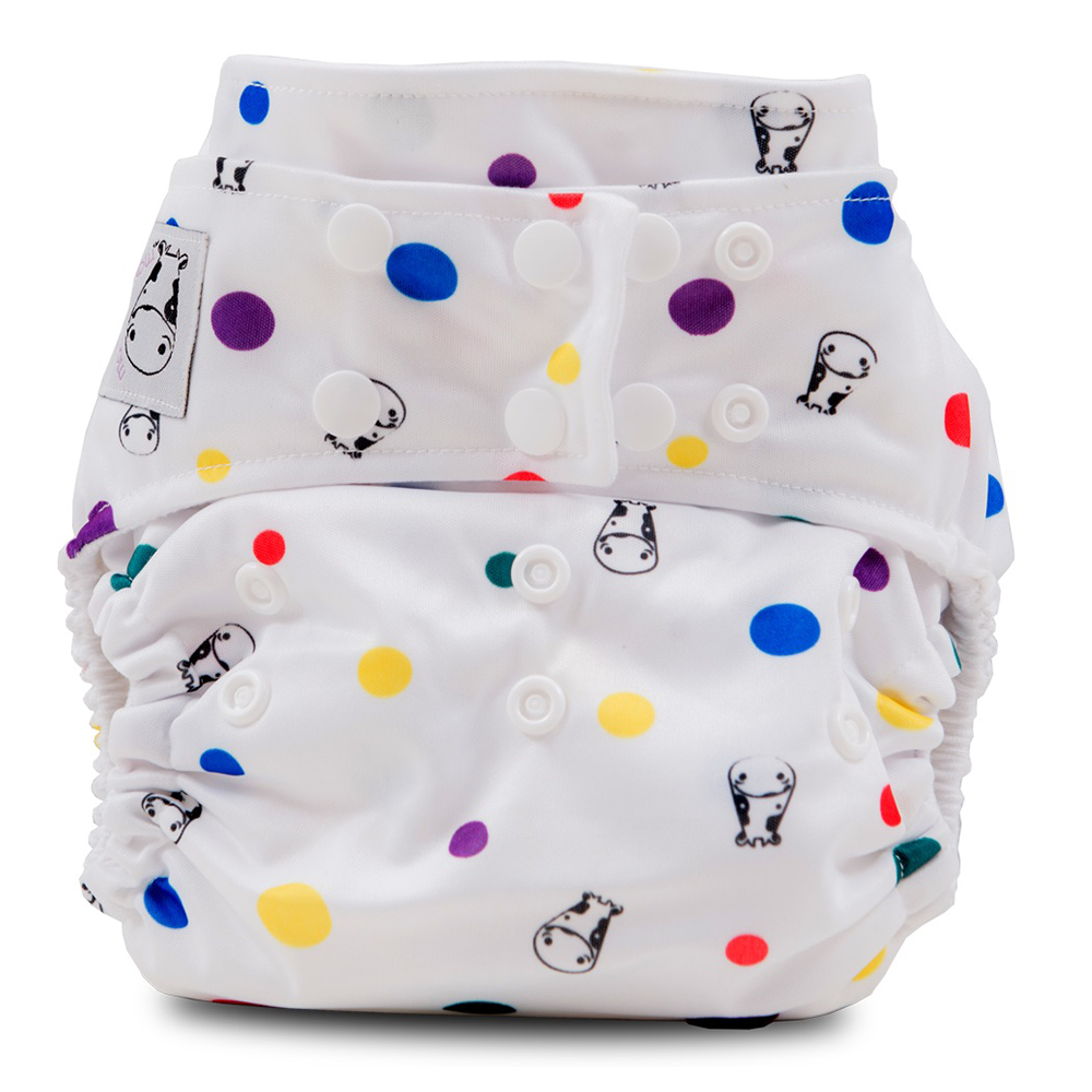 BAMBOO Cloth Diaper One Size Snap - Dot Dot