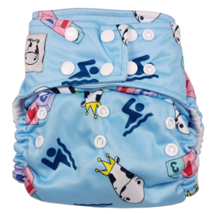 BAMBOO Cloth Diaper One Size Snap - Swim