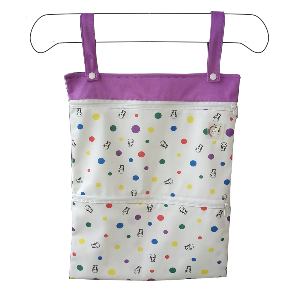 Wet Bag XL - Dot Dot Purple