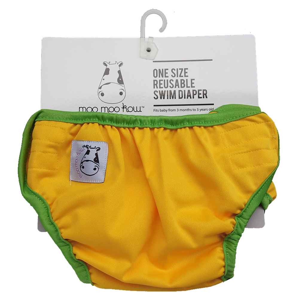 One Size Swim Diaper Yellow