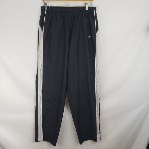 Nike Black Gray Stripe Slick Track Pants