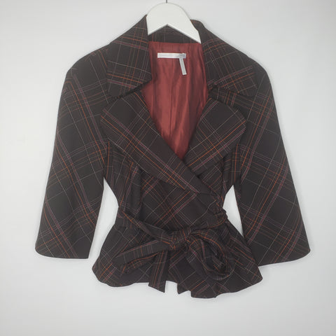 Nordstrom Classiques Entier Brown Belted Blazer