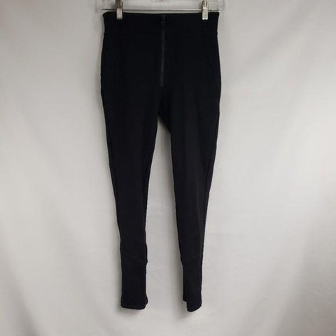 UO Silence + Noise Black High Rise Zipper Skinny Pants